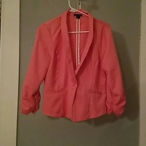 pink casual suit coat